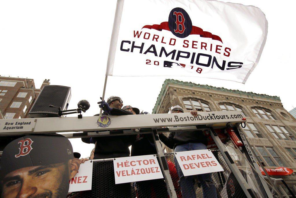 紅襪展開冠軍遊行。 美聯社