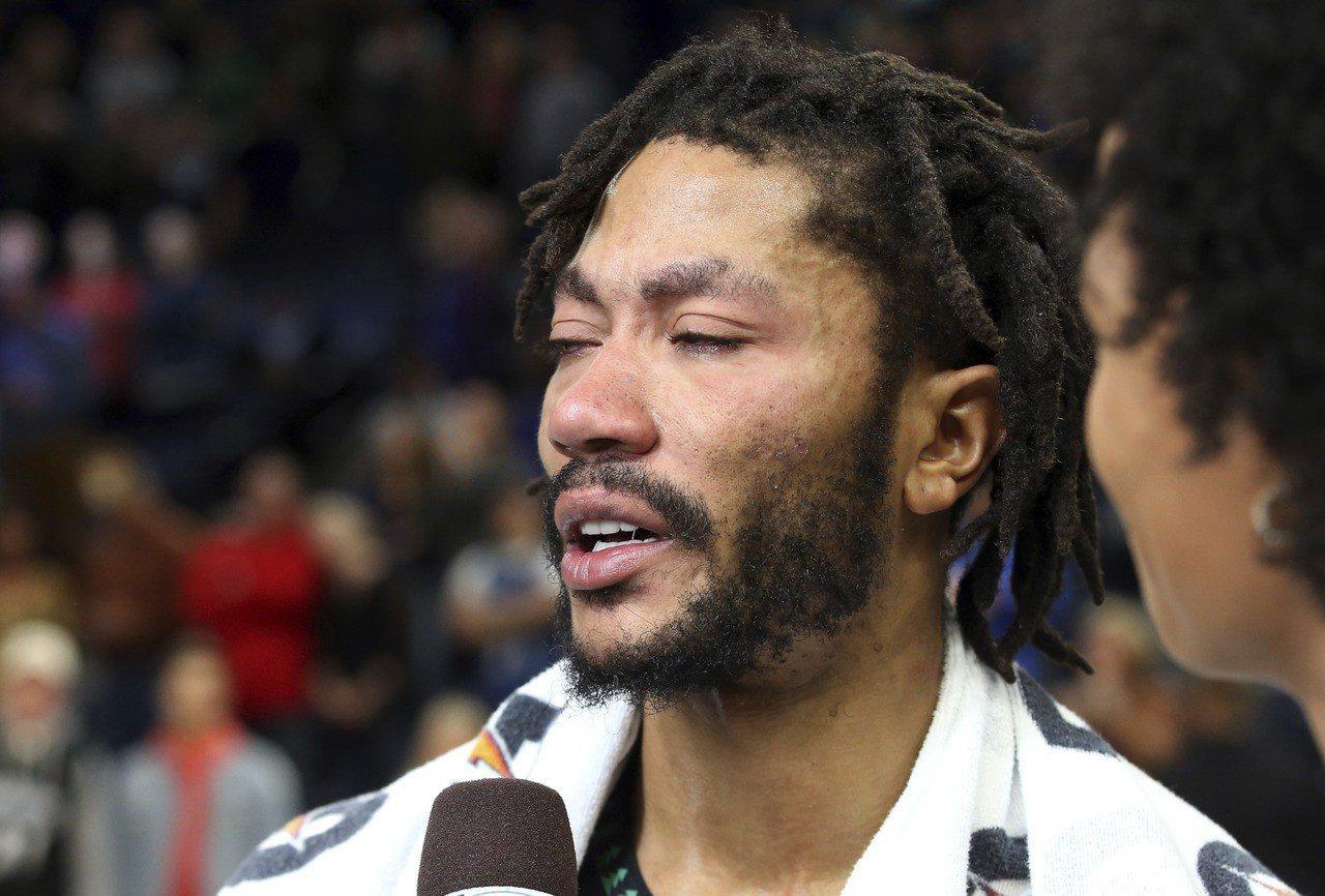 羅斯重現MVP風采狂飆生涯新高50分,賽後他忍不住落下男兒淚,直言這是意義重大的...