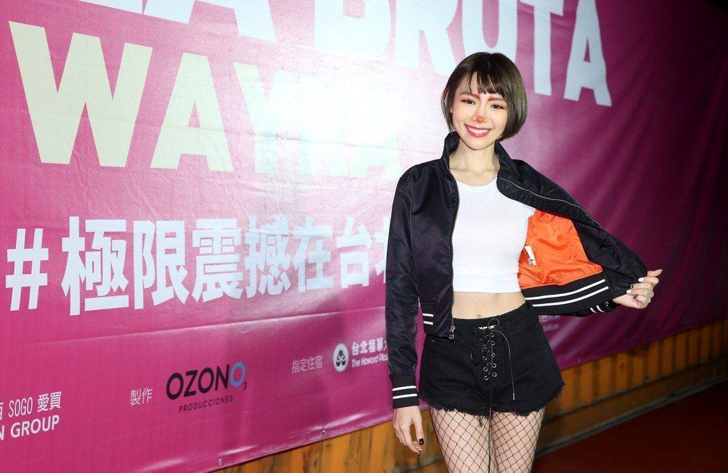 林明禎觀賞《極限震撼+》首演。記者余承翰/攝影