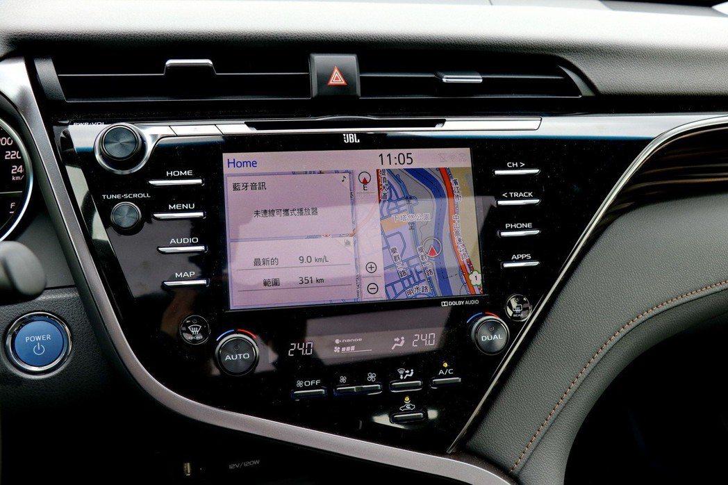 頂級的HYBRID旗艦車款配備8吋觸控式DVD影音主機(整合原廠衛星導航系統)。...