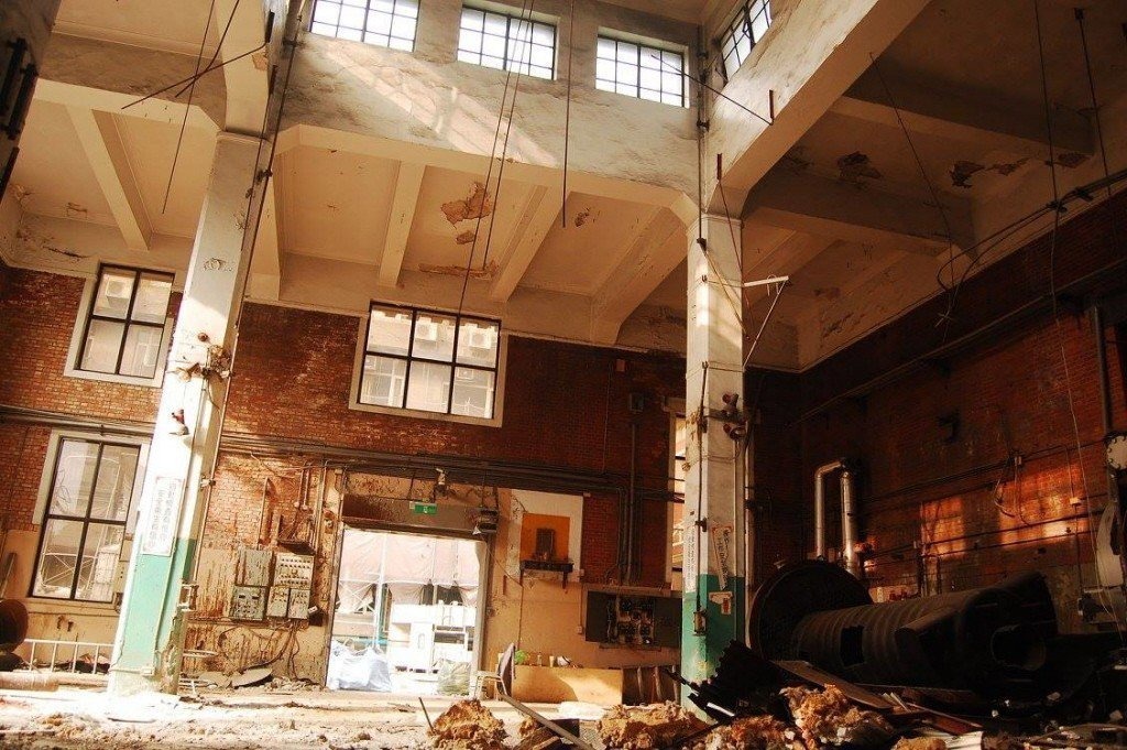 台大鍋爐室登錄歷史建築,現遭拆除。 圖/陳滿地提供
