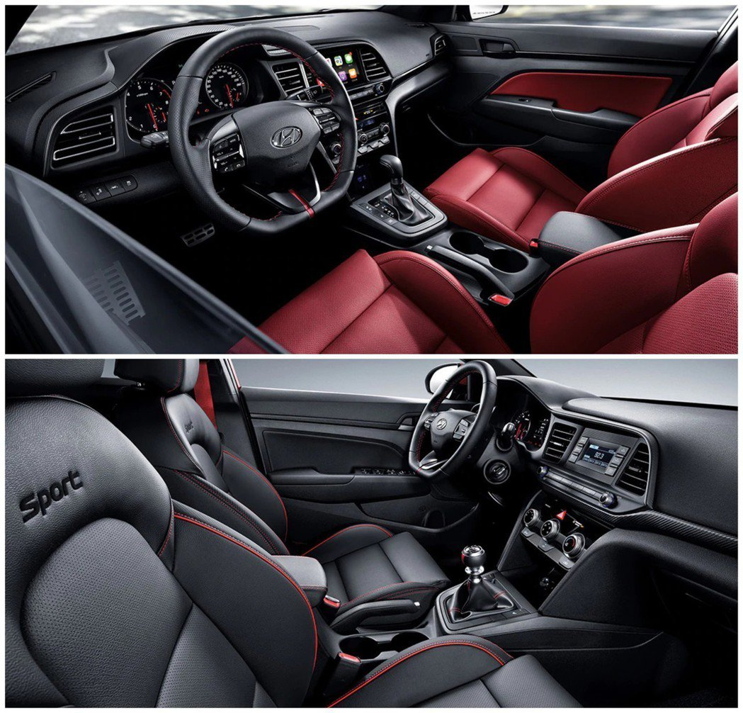 小改款Hyundai Avante Sport(Elantra Sport)內裝...