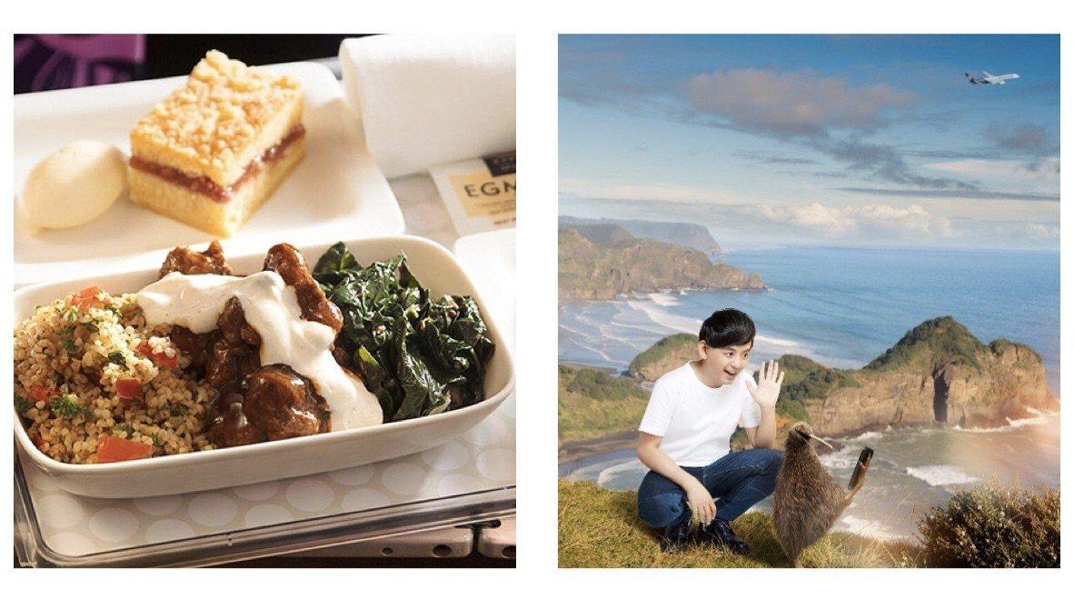 (左圖)品嚐道地紐西蘭美食、(右圖)跟奇異鳥一起探索紐西蘭美景。 圖/紐...