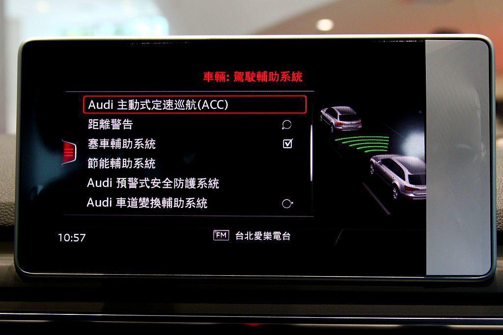 ACC主動式定速巡航控制系統:可偵測前方達200m的車輛,同時駕駛可自行設定行駛...