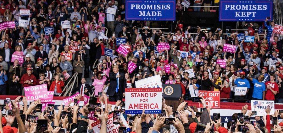 美國總統川普為共和黨候選人助選。(取材自川普推特)