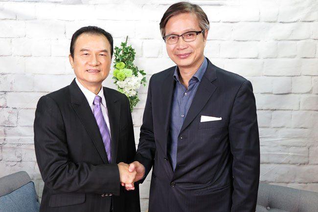 理財周刊發行人洪寶山(左)、謝劍平(右)