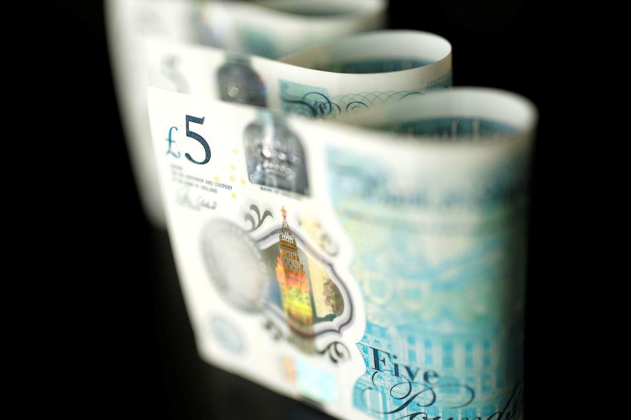英鎊兌美元勁升0.5%。路透