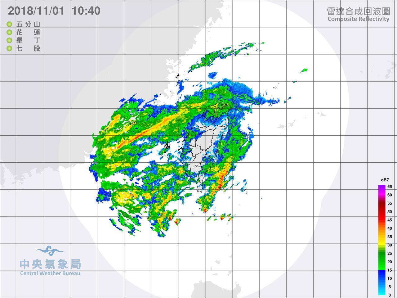氣象局今日針對新北市、基隆市、宜蘭縣、花蓮縣發布大雨特報,對台東縣發布大雨和豪雨...