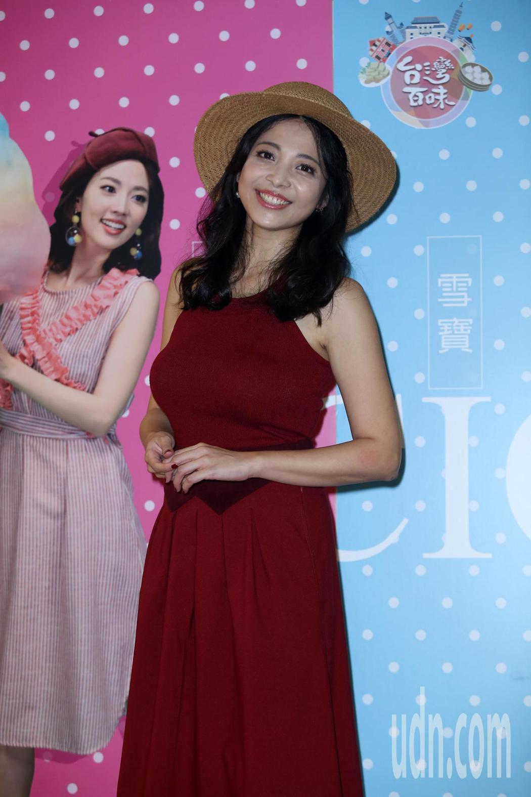 雪寶擔任高點電視台新節目「台灣百味」主持人。記者曾吉松/攝影