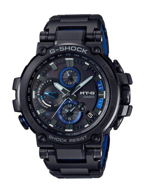 G-SHOCK MT-G系列B1000BD-1A腕表,黑色IP處理表殼、表鍊,約...