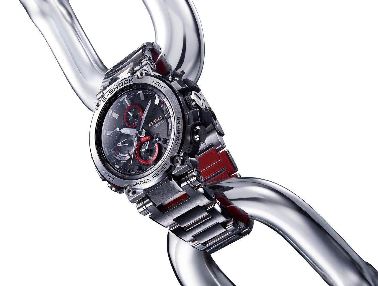 G-SHOCK MT-G系列B1000D-1A腕表,不鏽鋼表殼、表鍊,約25,5...
