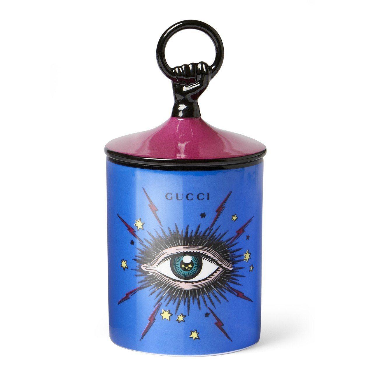 眼睛彩繪瓷器香氛蠟燭,14,600元。圖/Gucci提供