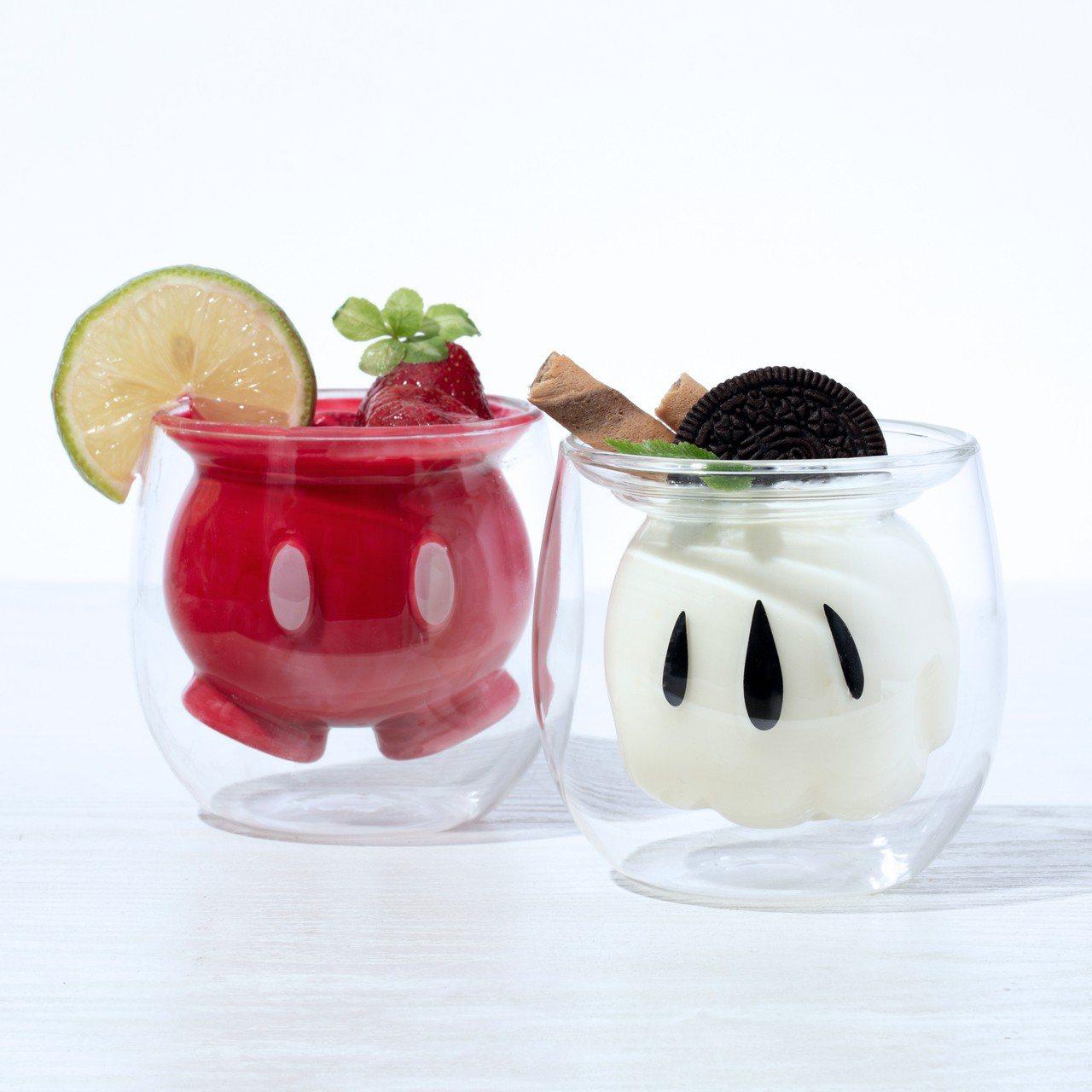 雙層玻璃杯包含褲子款、手套款,當杯子、擺飾或收納小物都很便利。圖/全家便利商店提...