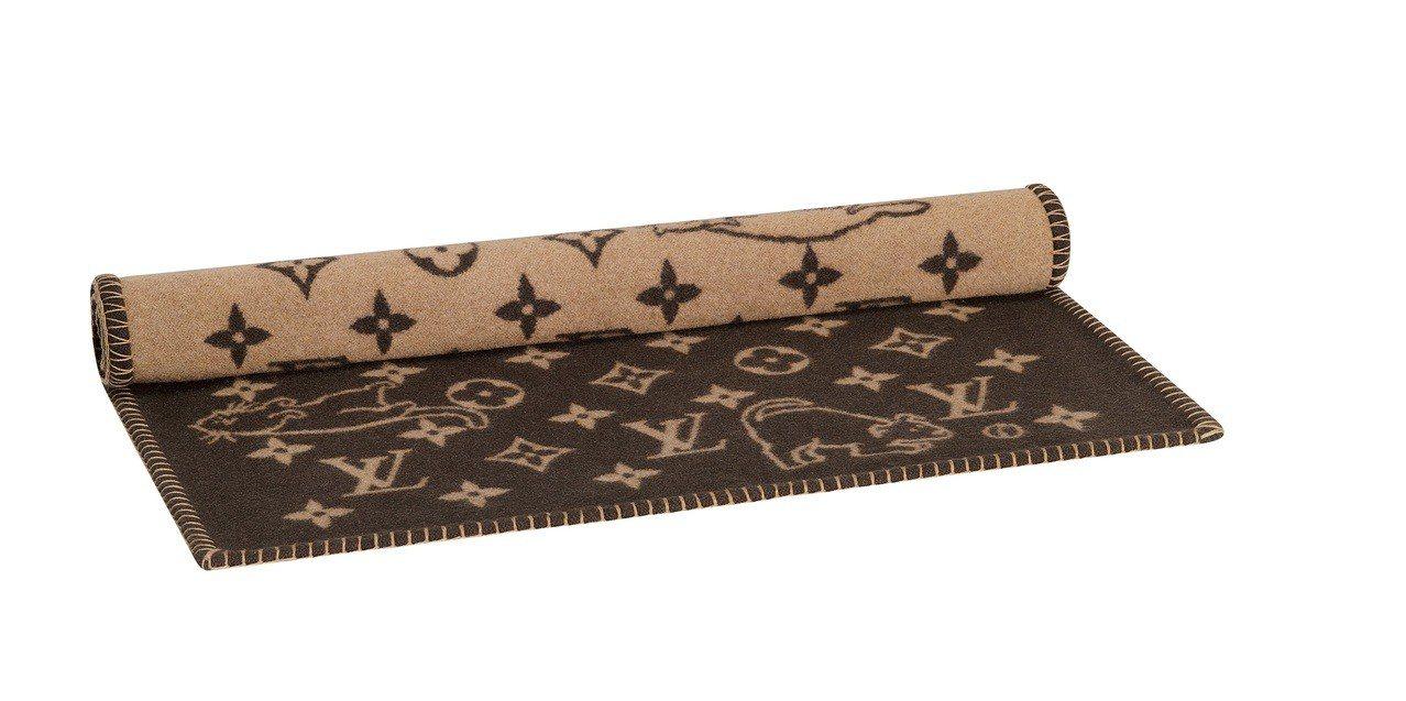 LV X Grace Coddington毛毯,價格店洽。圖/LV提供
