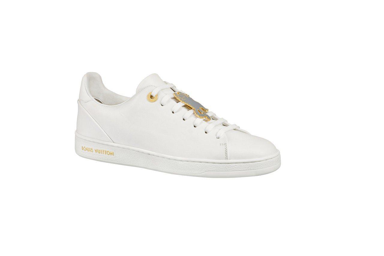 LV X Grace Coddington白色休閒鞋,售價31,800元。圖/L...