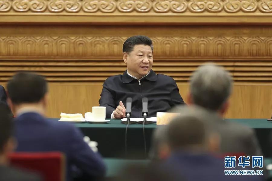 中共中央總書記1日在北京人民大會堂主持民營企業座談會,並發表重要談話。(新華社)