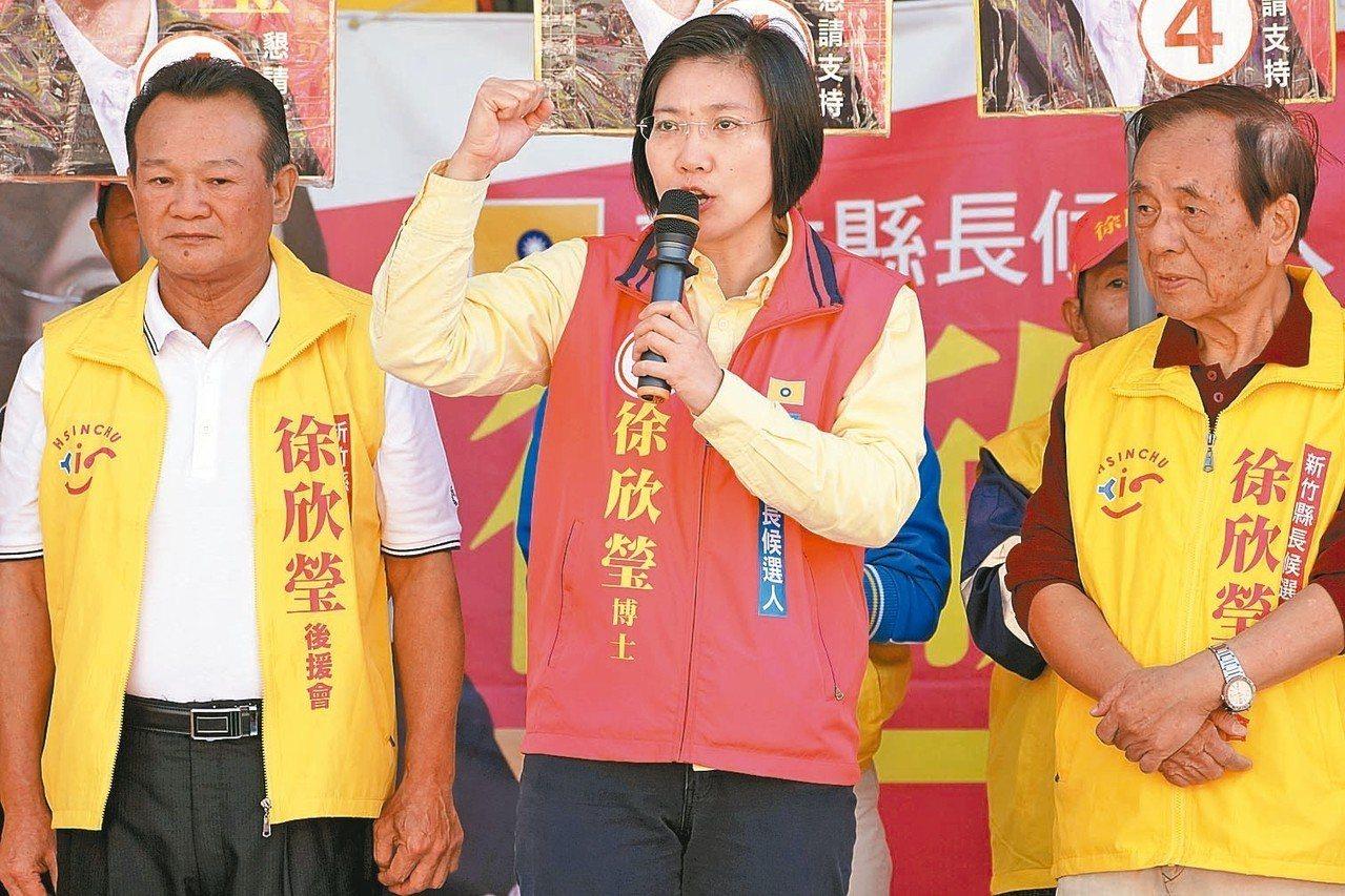 徐欣瑩(中)反對地價稅暴漲。 圖/徐欣瑩競選團隊提供