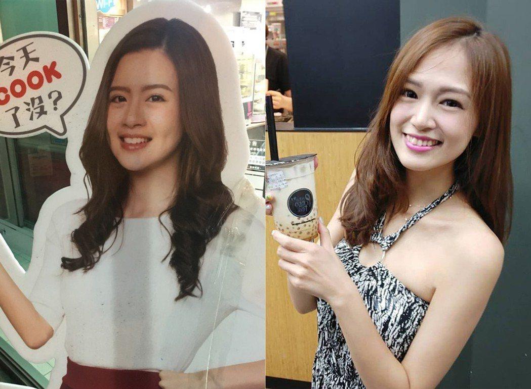 左:超商看板娘,右:阿丹。 圖片來源/PTT、阿丹臉書
