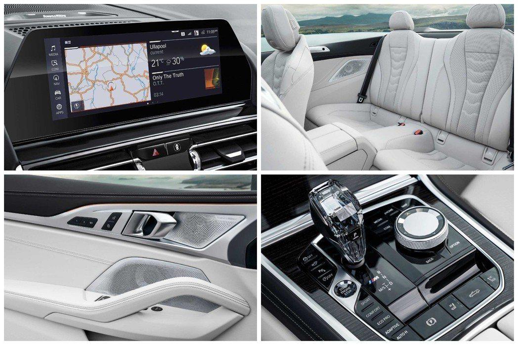全新BMW 8 Series Convertible(G14)車室。 摘自BMW