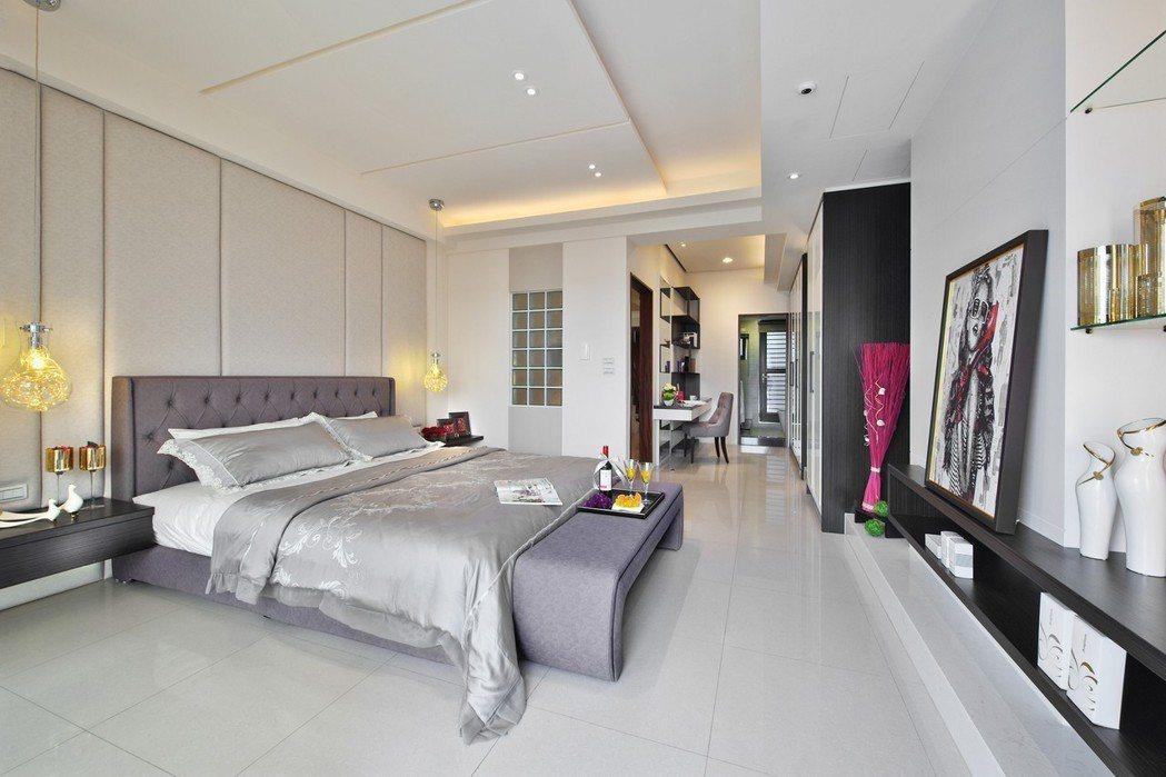 寬敞舒適的大套房,通風採光俱佳。圖片提供/祥傑建設