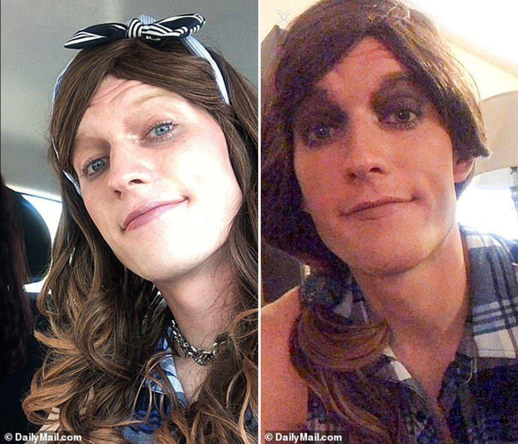 洛根有特殊的女裝癖好,更曾向朋友透露想去進行變性手術。圖片來源/每日郵報