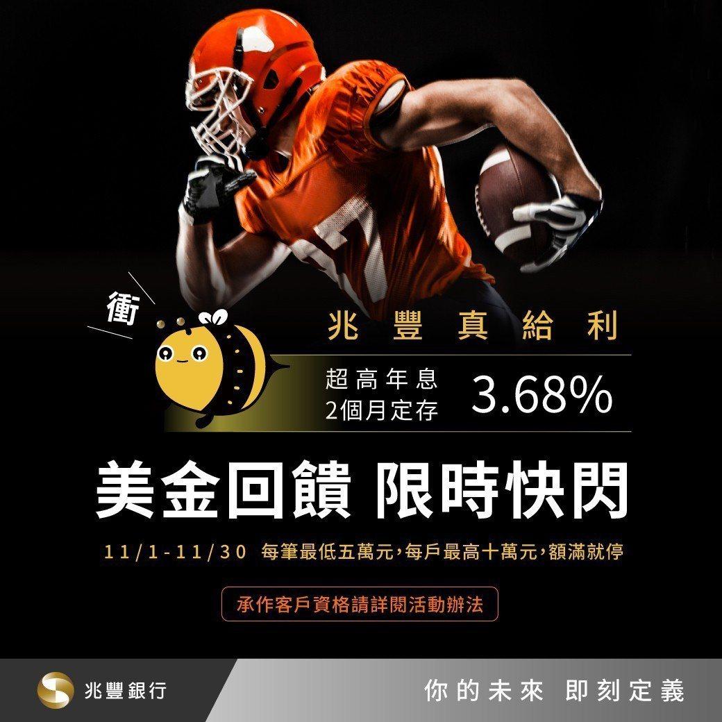兆豐銀行推3.68%美元優惠定存。圖/兆豐提供