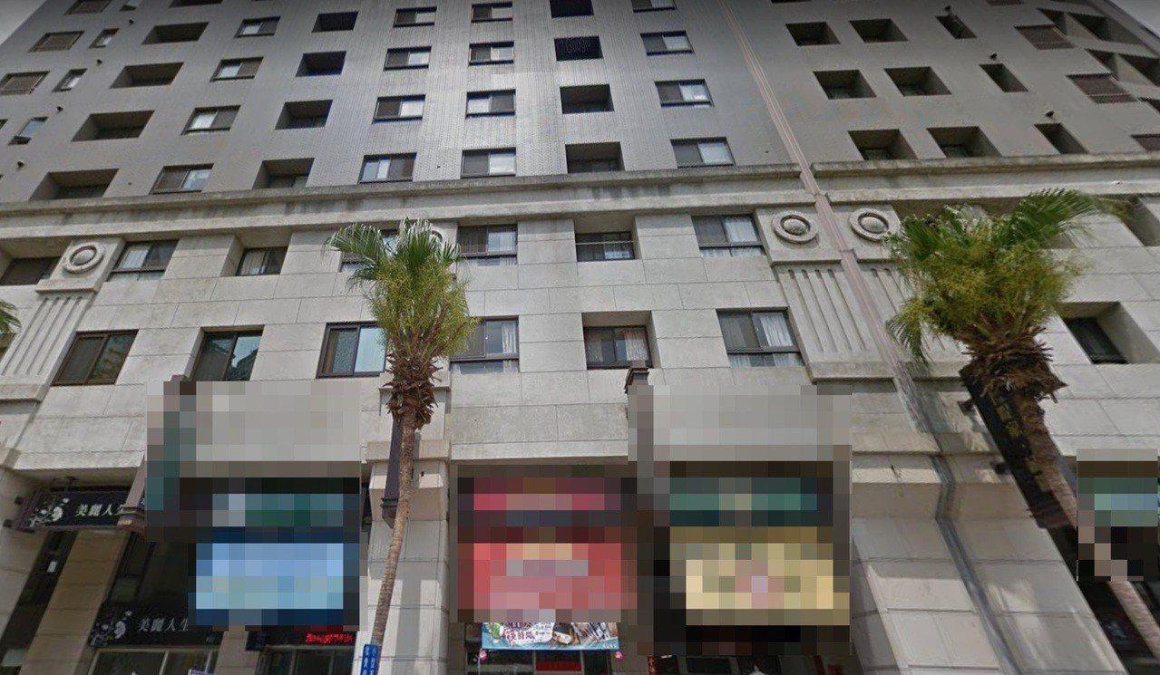 台中市南區忠明南路某大樓昨天晚間傳出尋短意外,造成兩人死亡。圖/摘自google...