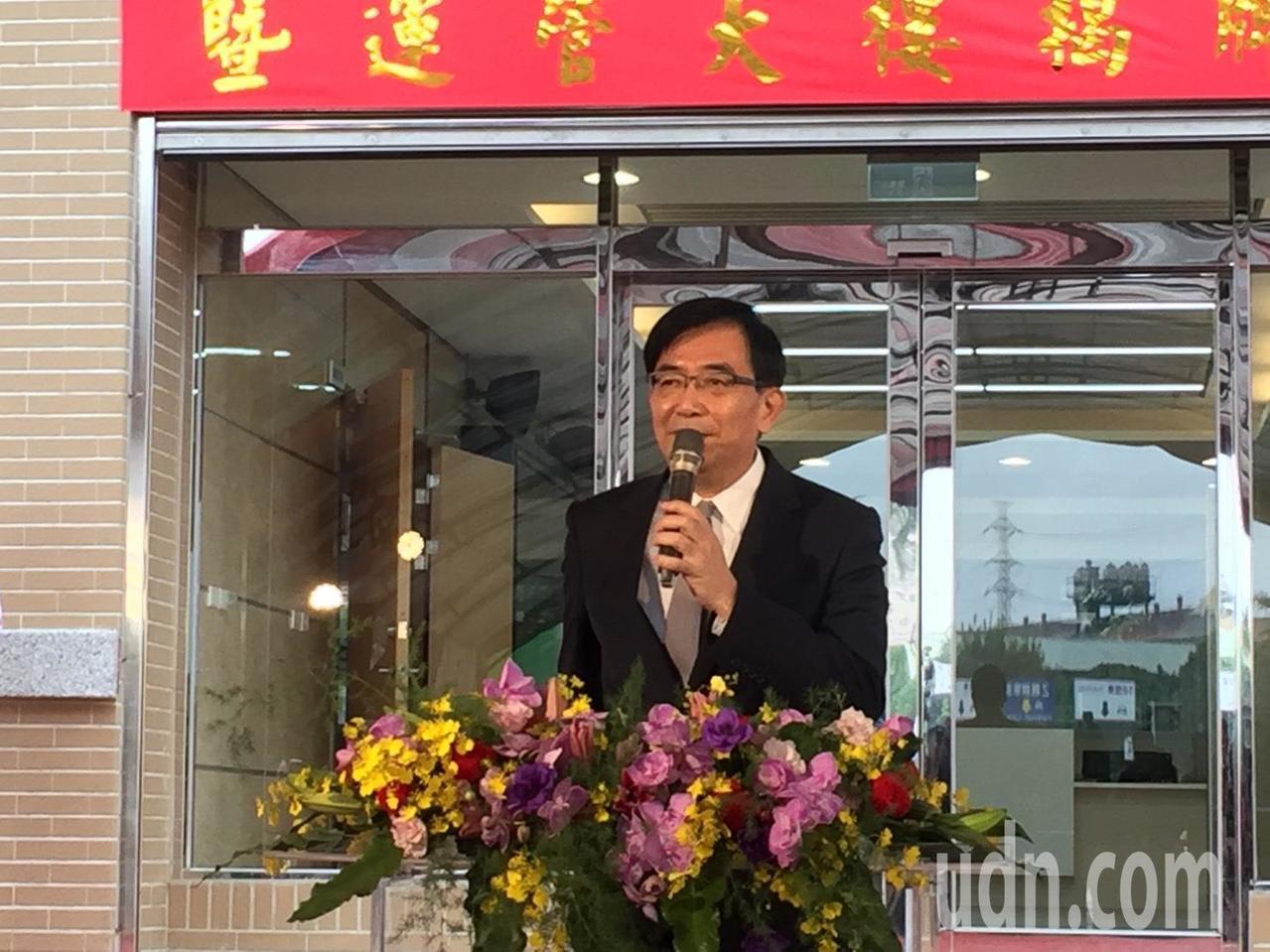 交通部長吳宏謀致詞。記者洪安怡/攝影