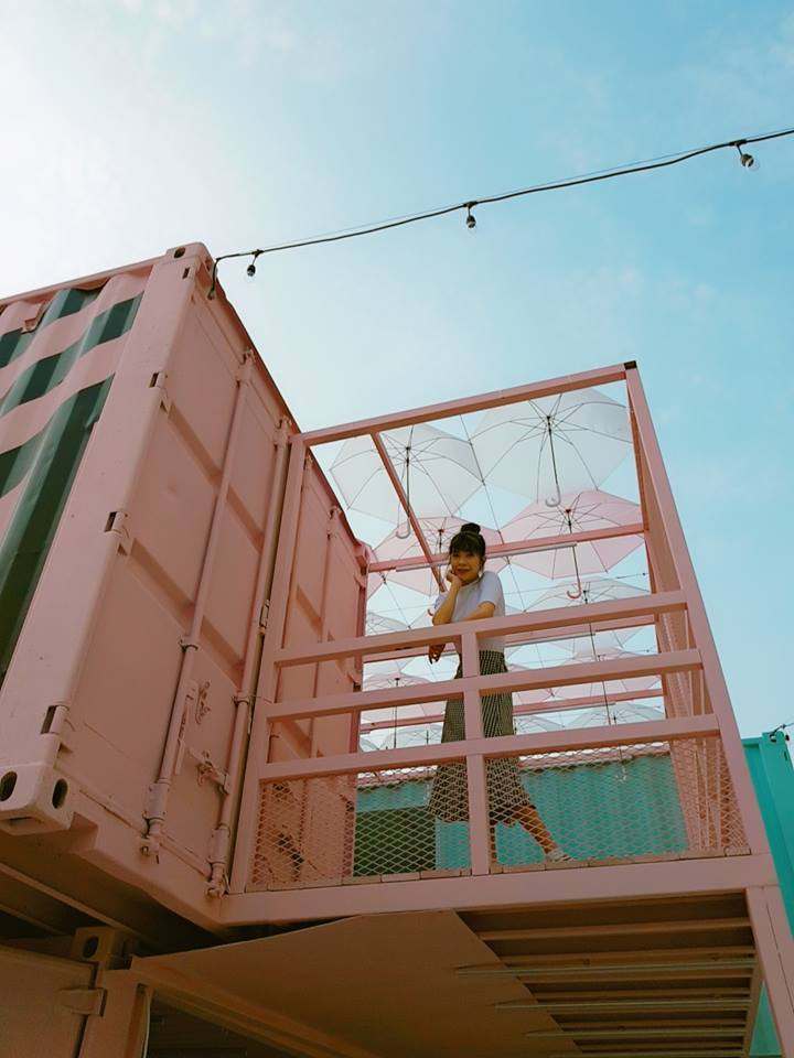貨櫃市集線條強烈又富立體感,相當適合拍照。圖/取自桃園市政府青年事務局粉絲團