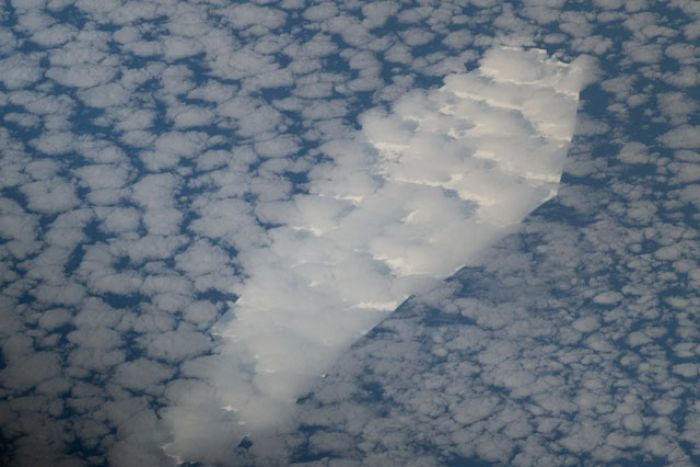 棺材形冰山即將壽終正寢,照片從國際太空站拍攝。取自NASA