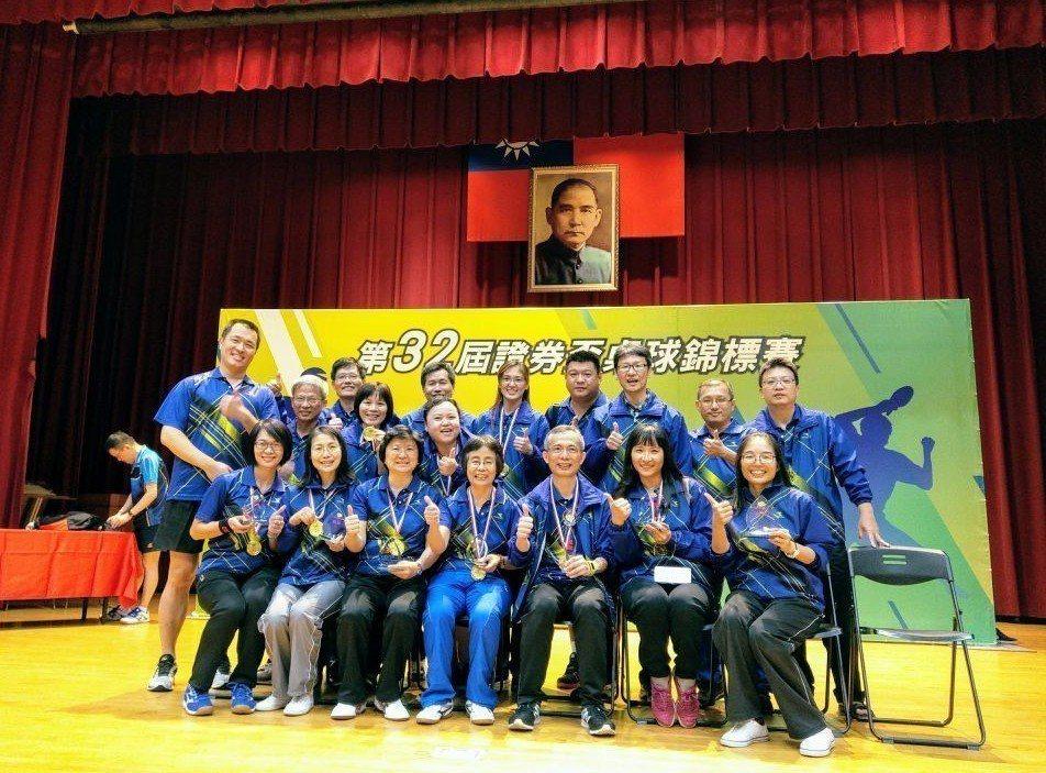 永豐金證券桌球隊蟬聯第32屆證券盃桌球錦標賽女子團體競賽冠軍。圖/永豐金證券提供