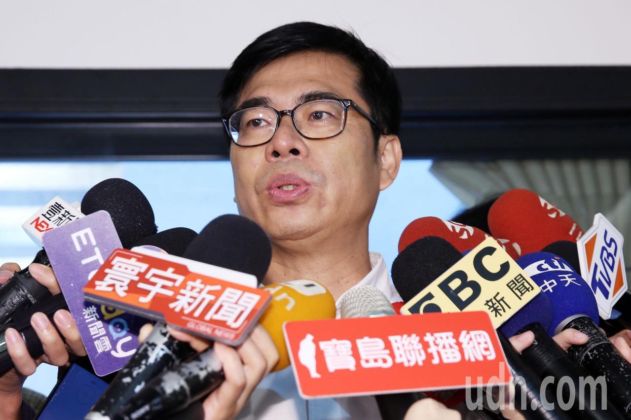 民進黨高雄市長候選人陳其邁。聯合報系記者杜建重/攝影