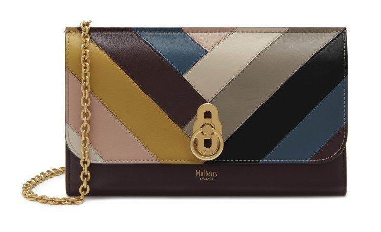 MULBERRY Amberley鍊帶手拿包,售價26,700元。圖/MULBE...