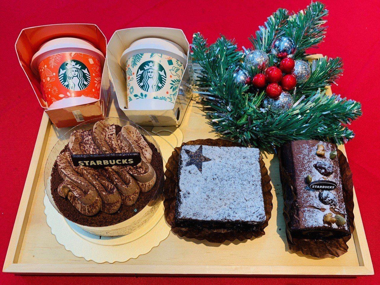 耶誕節限定甜點。記者張芳瑜/攝影