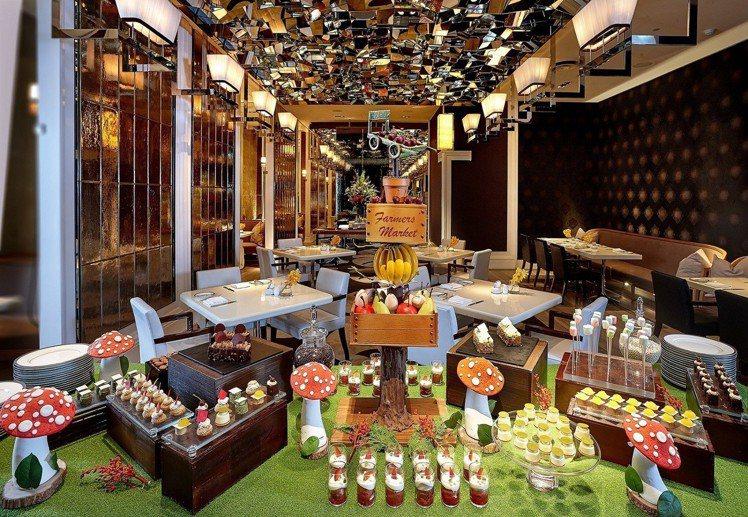 文華Cafe午、晚間「饗.吃.吧」繽紛甜點吧。圖/台北文華東方酒店提供