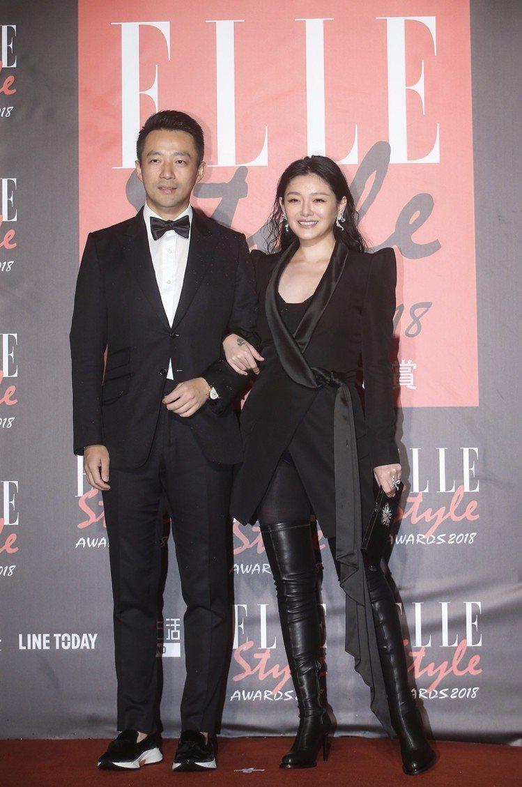 汪小菲(左)和大S出席頒獎典禮。圖/記者余承翰攝影