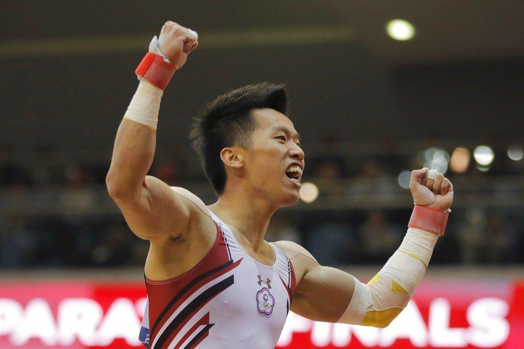 李智凱頂住壓力,成功拿下體操世錦賽鞍馬銅牌。 美聯社