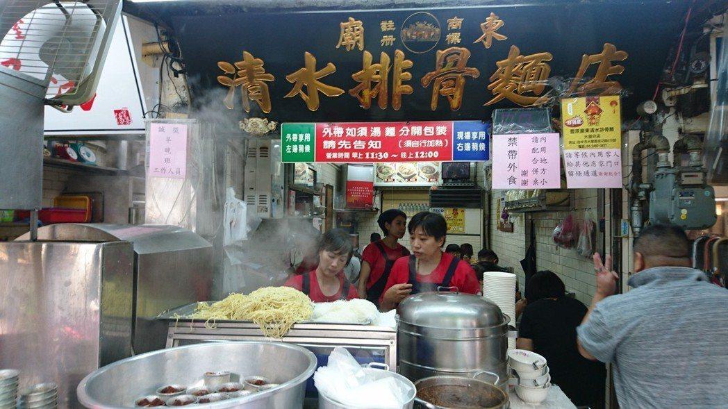豐原廟東夜市雖是夜市,但從早到晚都有美食可吃。 記者黑中亮/攝影