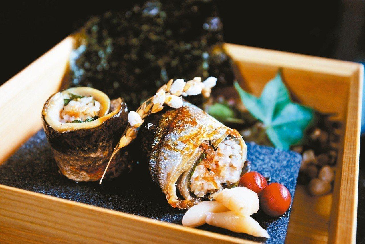 「寒露」北海道秋刀魚飯糰。 圖/業者提供
