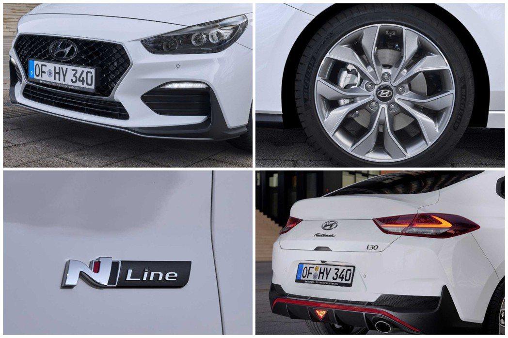 全新Hyundai i30 Fastback N Line外觀造型較一般版本車型...