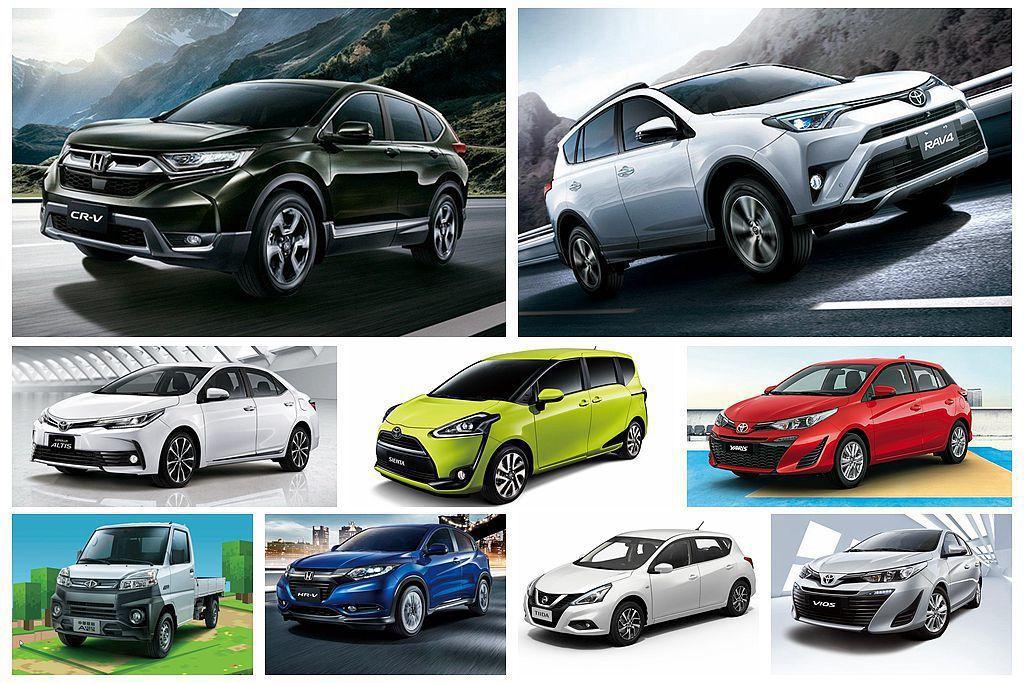 台灣前三季新車銷售排行出爐,當中國產休旅的名次攀升最受矚目。 圖/各車廠提供