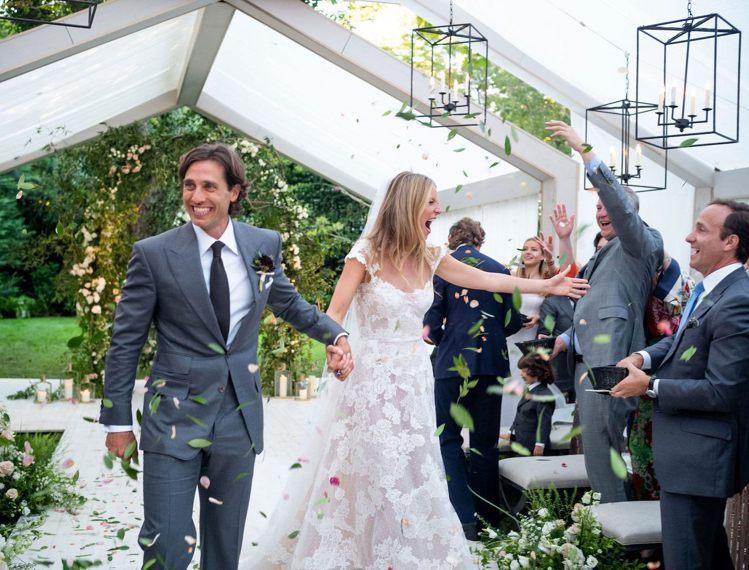 葛妮絲派楚公開與布萊德法契克的婚禮照片。圖/摘自Goop