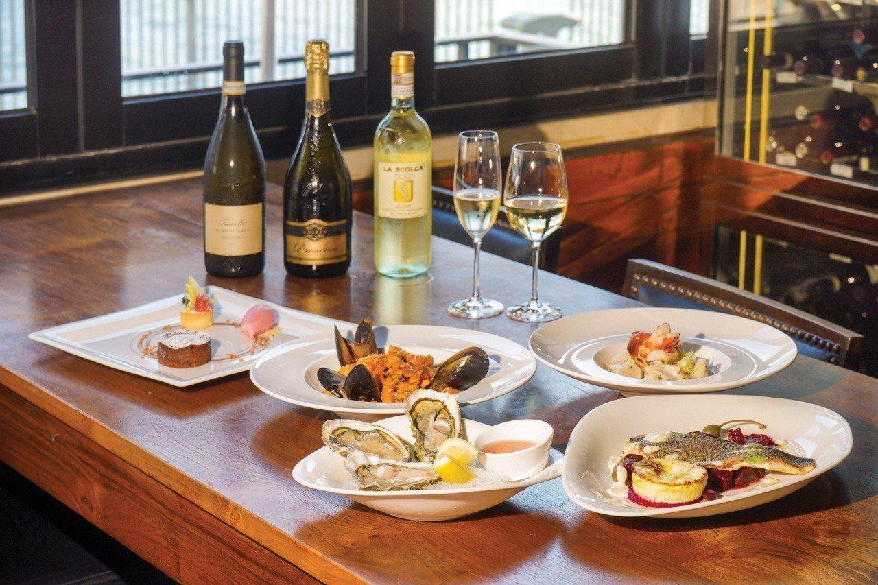 海港城海鮮配美酒特色佳餚盛宴。圖/港旅局提供