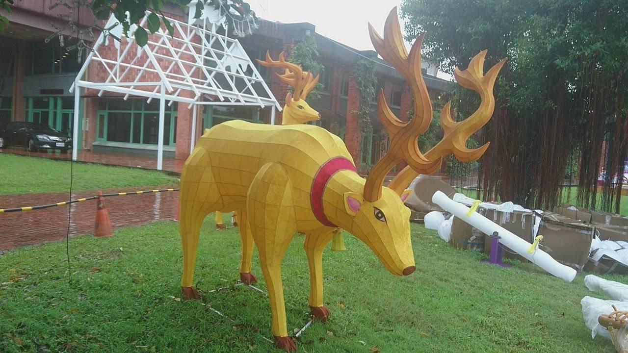 宜蘭又有新景了!縣政府打造「宜蘭奇幻耶誕」,即將登場,麋鹿進駐。記者羅建旺/攝影