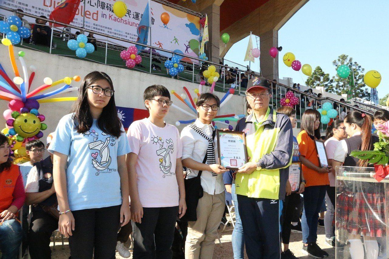 高雄市107年身心障礙國民運動會在中正高工體育場登場。記者徐如宜/攝影