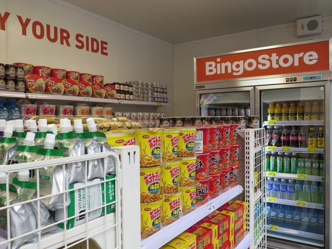 進駐桃園貨櫃市集的「BingoStore無人智慧商店」,今天正式對外營業,主打2...