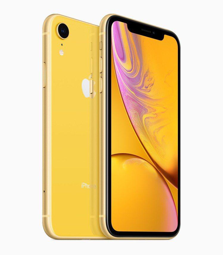 iPhone XR黃色。圖/摘自Apple官網