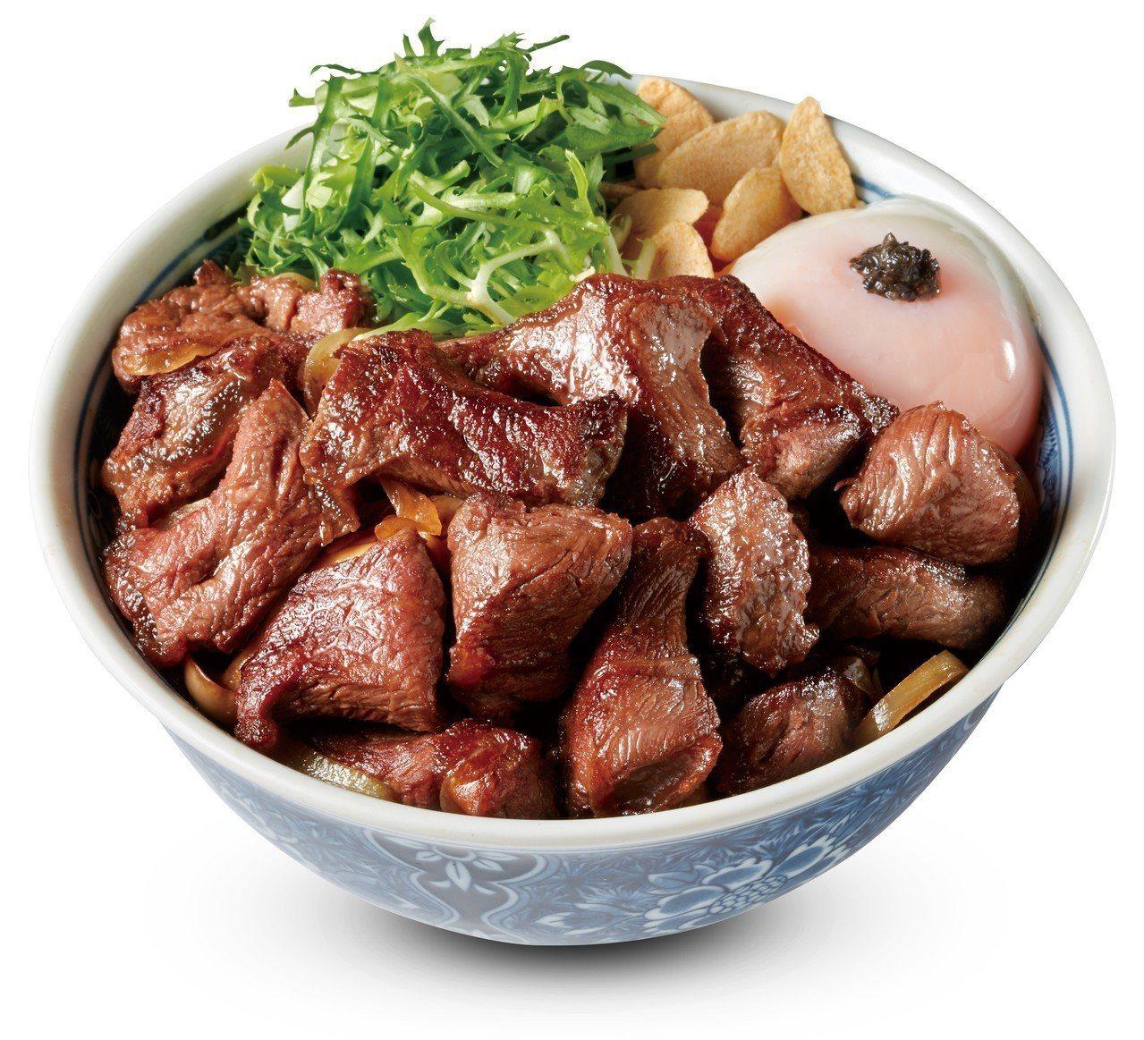角切牛排丼,每份330元。圖/開丼提供
