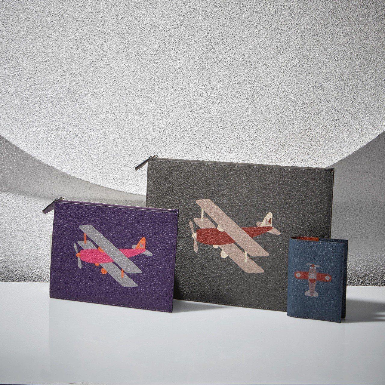Mosaïque皮革鑲嵌飛機系列。圖/MOYNAT提供