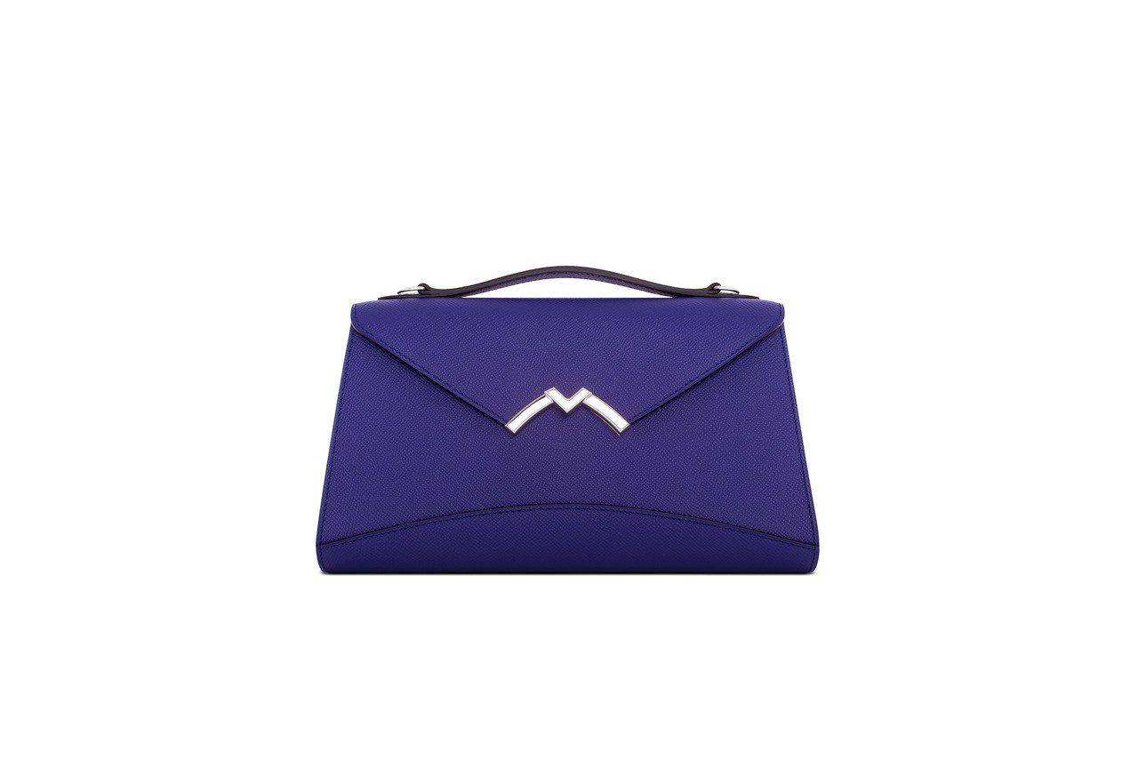 Gabrielle孔雀紫手拿包,售價12萬1,000元。圖/MOYNAT提供